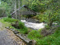 Carie Burn, bridge, Carie Forest, Black Wood of Rannoch, south of Loch Rannoch. Image C. L. Tangenberg